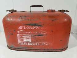 Vintage Evinrude Cruise A Day 6 Gal Metal Gas Tank Very Clean Fresh Water