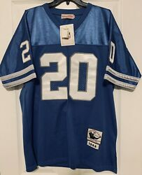 Barry Sanders Detroit Lions Mitchell And Ness Authentic Jersey Throwback Mens 48