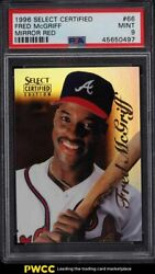1996 Select Certified Mirror Red Fred Mcgriff 66 Psa 9 Mint