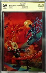 Thanos 17 Jones Virgin Variant, Cbcs 9.9 Mint, Signed By Cates, Limited To 600
