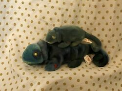 1997 Ty Beanie Baby Collectible Rainbow the Chameleon and Teenie Lot