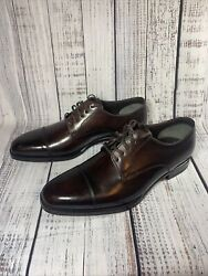 Tom Ford Gianni Style Brown Leather Cap Toe Dress Shoes Men's 9.5 Lace Up Rare