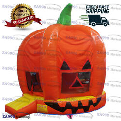 13x13ft Inflatable Halloween Pumpkin Bounce House With Air Blower