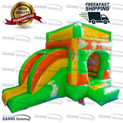 13x10ft Inflatable Pentagon Jungle Bounce House Bouncy Castle With Air Blower