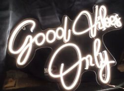 Good Vibes Only Neon Sign Handmade Lights Led Wall Décor Interior Art Desing