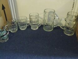 Vintage Bundle Of 11 Beer And Stien Glasses In Used Condition