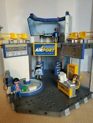 Playmobil Airport 3886 5744 Vintage W/ Instructions 99 Complete