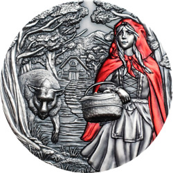 Cook Islands 2019 Little Red Riding Hood Fairy Tales And Fables 3 Oz Silver Coin