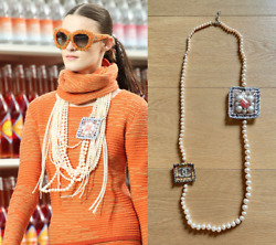 Rare Usd2,500 Pearl Sautoir Long Necklace Jewellery With Sweets Charms