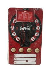 Coca Cola Coke Collectible Poster Phone Real Working Speaker Wall Phone New
