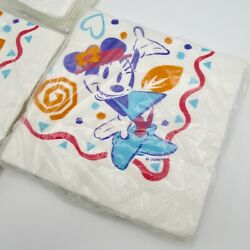Minnie Mouse Vintage Beverage Paper Napkins New Sealed Nos 3 Packs Gibson