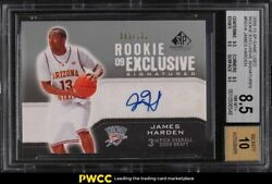 2009 Sp Game Used Exclusive Signatures James Harden Rookie Rc Auto /100 Bgs 8.5