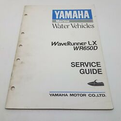 Yamaha Waverunner Lx Wr650d Factory Service Guide 1st Ed May 1989