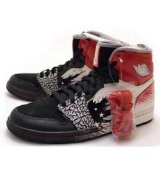 New Dave White Air Jordan 1 High Sneakers Mens 26.5cm With Box Black White Red