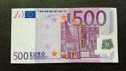 Germany 500 Euro 2002 X-serie Aunc Duisenberg Sign R004 - Very Rare