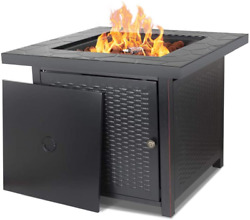 Camplux Propane Fire Pit Table, 30 Inch Gas Fire Table With Lava Rocks And Water