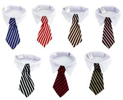 50pcs Dog Tuxedo Stripped Neck Tie Adjustable Bow Tie Weeding Grooming Supplies