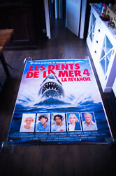 Jaws 4 4x6 Ft Bus Shelter D/s Movie Poster Original 1987