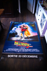Back To The Futur 2 4x6 Ft Bus Shelter D/s Movie Poster Original 1989 Used