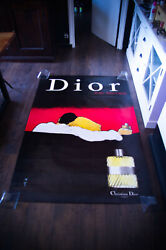 Dior Eau Sauvage By Gruau Style C 4x6 Ft Shelter Original Vintage Poster Used B