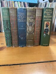 Lot Of 6 Antique G.a. Henty Books - Various Conditions - Various Publishers