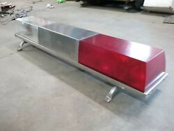 Vintage Code 3 Sae-w3-76 Rood Light Bar From A 17,000 Mile Fire Truck Excellent