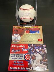 Ryan Theriot Signed Major League Baseball With Coa Chicago Cubs