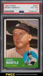 1963 Topps Mickey Mantle 200 Psa 4 Vgex
