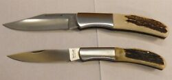 Lot Of 2 Kershaw Japan Limited Edition Knives Folding Knife 4175 4225 Stag K1