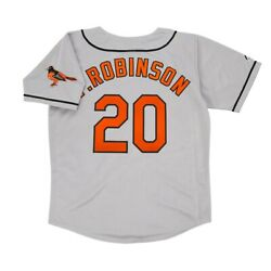 Frank Robinson Baltimore Orioles Road Menand039s Grey Jersey W/ Team Patch M-2xl