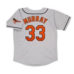 Eddie Murray Baltimore Orioles 1996 Road Menand039s Grey Jersey W/ Team Patch M-2xl