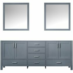 Lexora Home Jacques 80 Double Vanity With Mirrors In Dark Gray