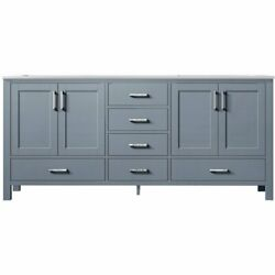 Lexora Home Jacques 72 Carrara Marble Top Double Vanity With Sinks In Dark Gray