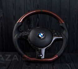 Bmw M Sport E46 M3 E39 M5 Oem Custom Leather Steering Wheel Forged Carbon Red
