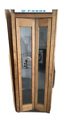 Beautiful Vintage Well Maintained Wood Telephone Booth With Rotary Coin Phone