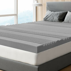 Queen Size Bedstory 3 In Mattress Topper Pads Bamboo Charcoal Firm Foam Support