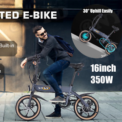16and039and039 Folding Electric Bike 20mph Top-speed Dual Disc Brake 16inch Foldable Ebike