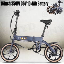 16and039and039 Folding Electric Bike Ebike 10.4ah Removable Lithium-ion Battery 350w Motor