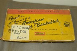 Napa Nos Nors Brake Shoe Linings Antique Old Vintage Classic Car Truck Van Ford