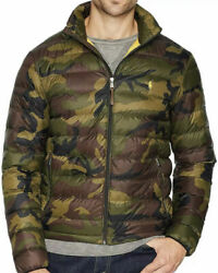Polo Packable Down Jacket Coat - Camouflage W/ Yellow