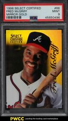 1996 Select Certified Mirror Gold Fred Mcgriff 66 Psa 9 Mint