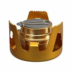 DZRZVD Mini Alcohol Backpacking Stove Lightweight Brass Spirit Burner with Al... $21.00