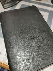 The Liberty Annotated Study Bible Rebound Black Cowhide Leather Nice