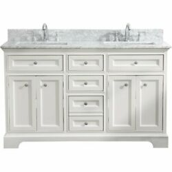 Ari Kitchen And Bath South Bay 55 Solid Wood Bathroom Vanity In White