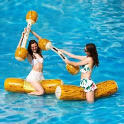 Inflatable Water Wings Pool Party Swim Wood Floating For Kids Fight Game Toy Log