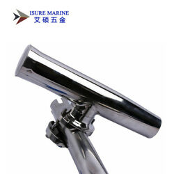 Isure Marine Stainless Steel Clamp On Fishing Rod Holder 1and039and039to1-1/4and039and039