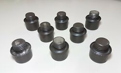 Lot Of 8 Rare Vintage / Antique Military Gun Oil Lubricator Tin Can Canisters