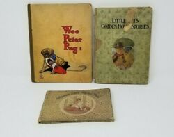 Lot Of 3 Antique Children's Books Wee Peter Pug Nursie's And Little Tots