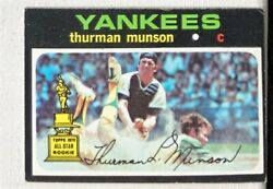 1971 Topps Thurman Munson 5 Rookie Card Vg-ex Corner Dings No Creases