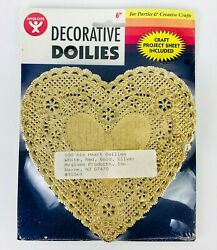 100 Nos Vintage Gold Die Cut Lace Paper Doily Doilies Red Green Silv Craft Card